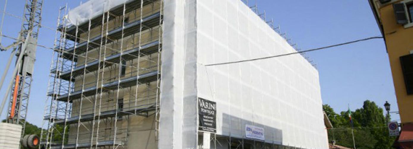 Varini Ponteggi – Restauro condominio via A. Murari, Valeggio s/M Verona